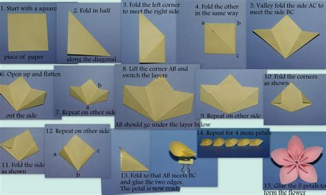 How To Make An Origami Flower Step By Step - butterflies and flowers an origami a day