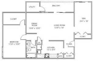 apartment floor plans one bedroom den apartments in