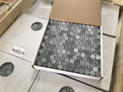 1 Mosaic Floor Tile - greystoke 1 quot pennyround mosaic honed mosaic floor wall tile