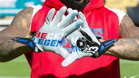 Beckham Immortalized by Odell Beckham Jr S Catch Immortalized On His Gloves Nfl