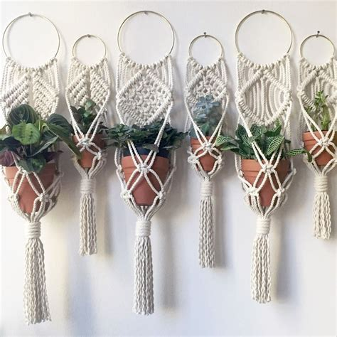 Macrame Patterns For Hanging Plants - best 25 plant hangers ideas on plant hanger