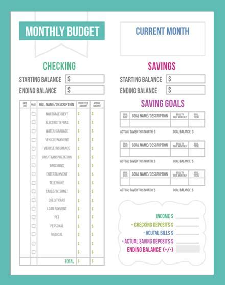 percentage budget template simple monthly budget excel template new calendar