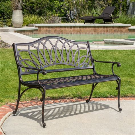 cast aluminum outdoor bench velda outdoor cast aluminum bench gdf studio