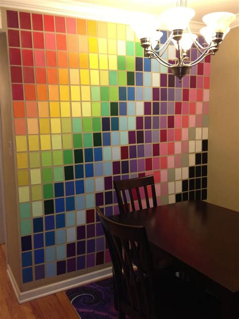 wall made with paint sles from home depot much paint sles and i