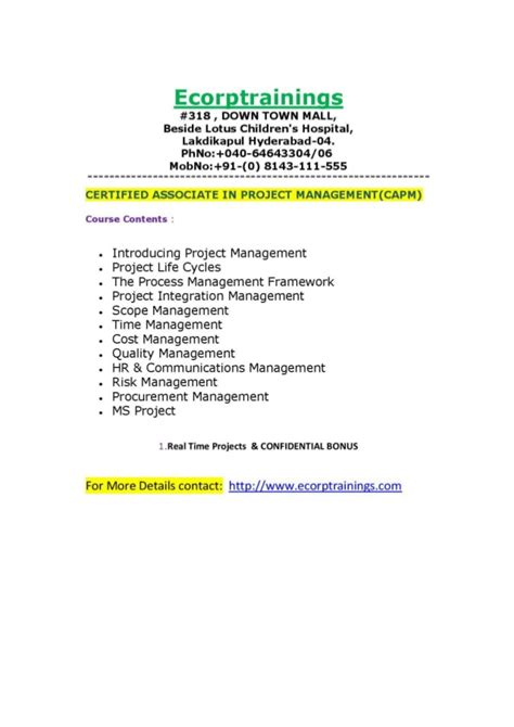 Project Development Associate Mba Clean Tech by Certified Associate In Project Management Capm