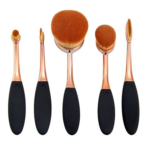5 Pcs Oval Brush by Oval Foundation Brush 5 Pcs Toothbrush Makeup Brushes Fast