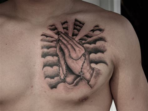 prayer hand tattoos 65 images of praying tattoos way to god