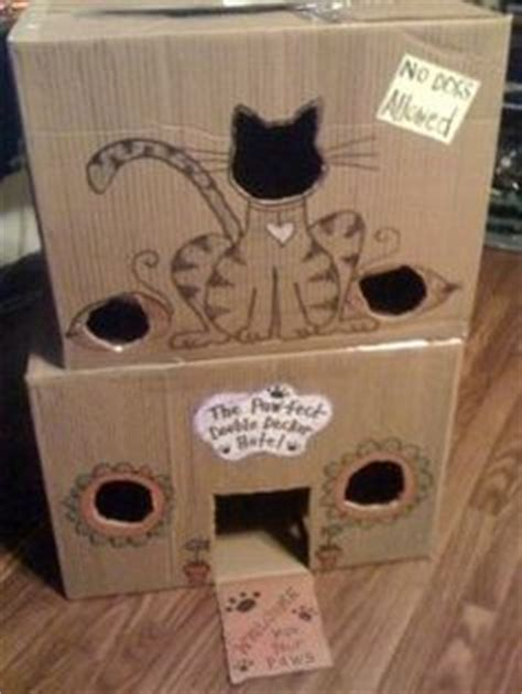 cardboard cat house plans cardboard cat house on pinterest