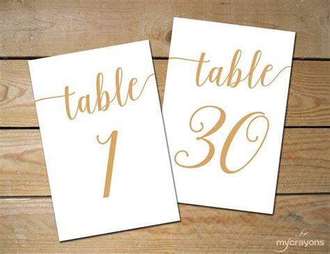 printable gold numbers instant download printable table numbers 1 30 bella
