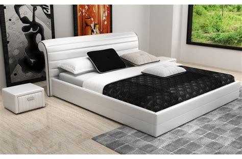lit de luxe design lit design en cuir italien de luxe spirit blanc mobilier priv 233