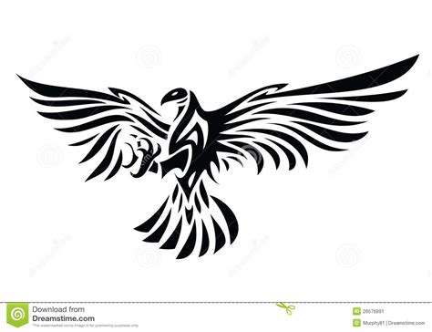 tribal eagle tattoo stock image image 26576891