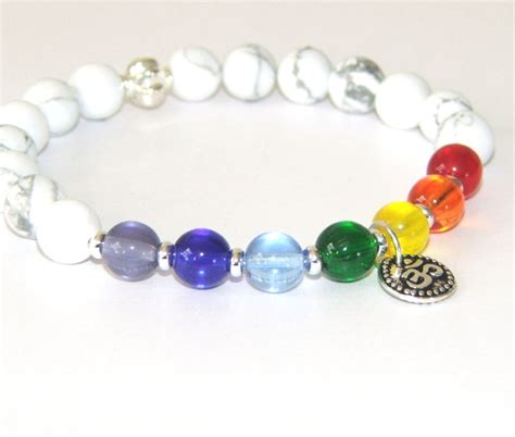 7 chakra healing bracelet jewellery with om symbol