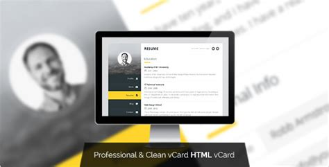 demdous mobile vcard template by thememarket themeforest premium layers html vcard resume template by