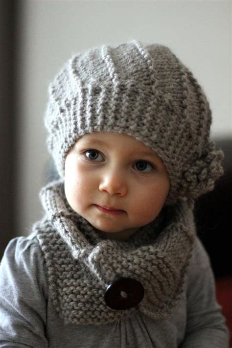 diy quot cool wool quot hat and cowl set pattern children