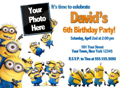 updated bunch  minion birthday party invitations ideas
