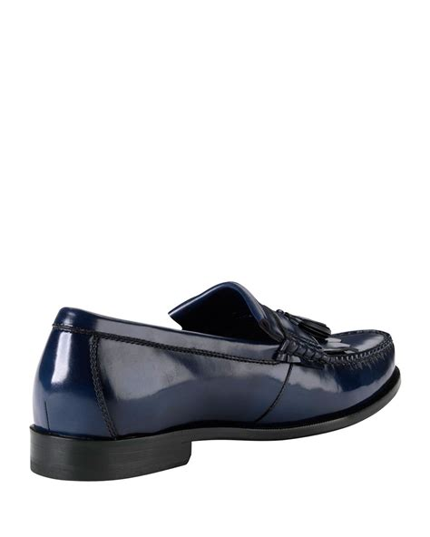 cole haan tassel loafers cole haan hudson kiltie tassel loafer in blue for lyst