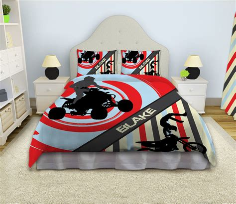 motocross comforter dirt bike bedding by eloquentinnovations