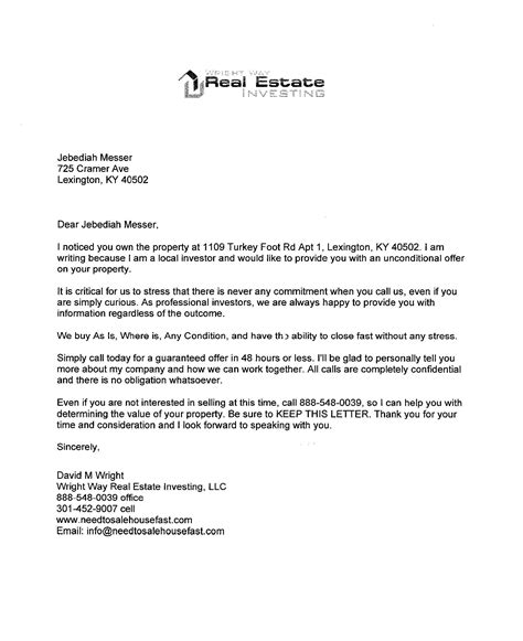 Sle Of Offer Letter To Purchase A House Offer Letter To Buy A House Purchase