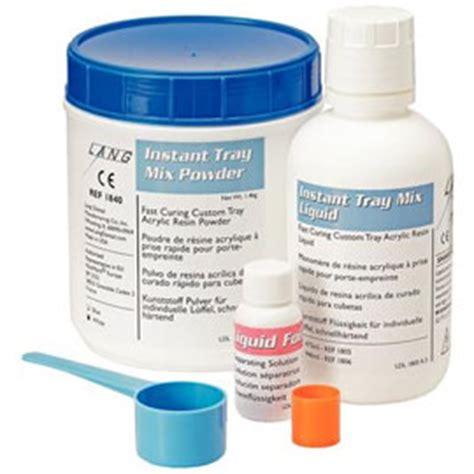 Powder Acrylic Selft Curing instant tray mix 3 lb white powder liquid pack self curing custom