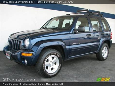 2003 jeep liberty limited patriot blue pearl 2003 jeep liberty limited 4x4