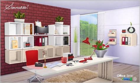 office clutter sims 4 cc office time clutter set at simcredible designs 4 187 sims 4