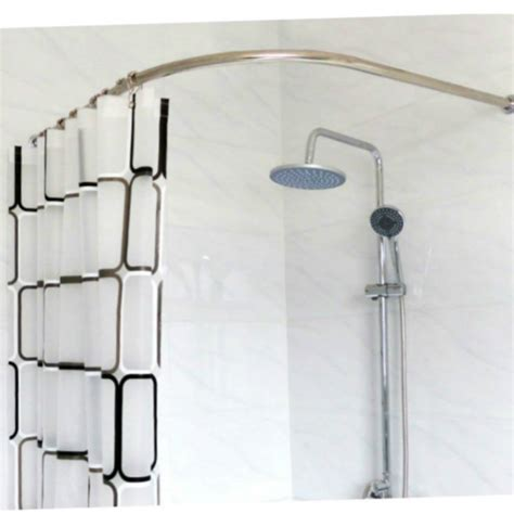 Bathroom Shower Curtain Rails Stainless Steel Curved Shower Curtain Pole Rod Rail Bathroom Products Bath Accessories Supplies