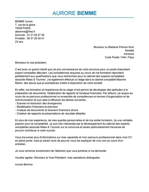 Exemple De Lettre De Motivation Pour Emploi Administratif Lettre De Motivation Assistant Expert Comptable Exemple