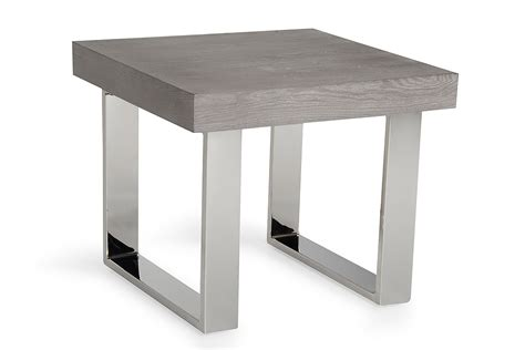 Grey Side Table Modrest Lola Modern Grey End Table