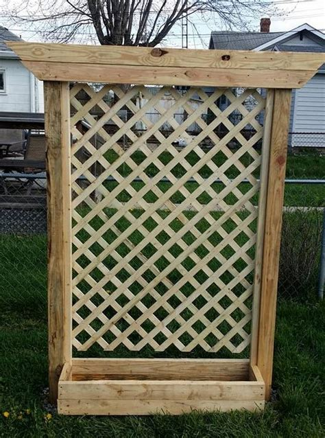trellis planter box building a planter box with a trellis hometalk