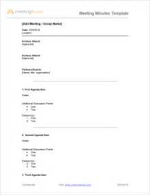 Free Templates For Meeting Minutes by Meeting Minutes Sle Free Meeting Minutes Template
