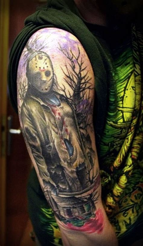 freaky tattoos friday the 13th tattoos geekshizzle