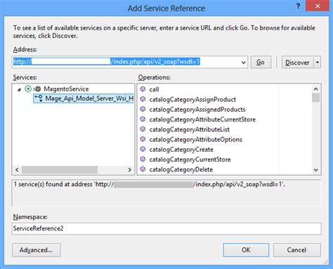 visual studio magento api not working with wsdl exe but