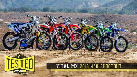 best 450 motocross bike 2018 vital mx 450 shootout motocross feature stories
