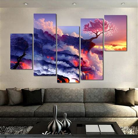 paintings home decor 5pc set large canvas painting pictures on the wall print