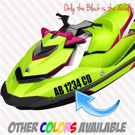 vinyl boat registration numbers canada 3 x 17 quot jet ski or boat registration numbers set 2x decal