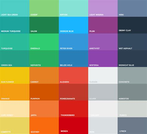 flat color picker flat ui color palette helpers written in