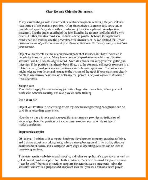 Strong Resume Objective by Powerful Resume Objective Statements Botbuzz Co