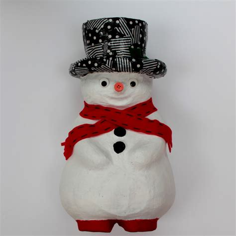 How To Make Paper Mache Snowman - paper mache snowman craft project hobbycraft