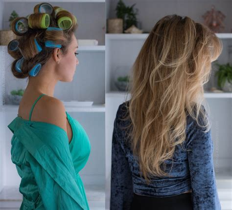 velcro rollers before and after how to use velcro rollers for voluminous hair becoming a
