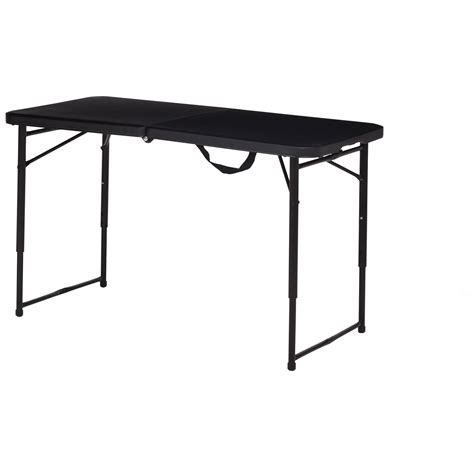 fold in half folding table lifetime 4 fold in half adjustable table white granite