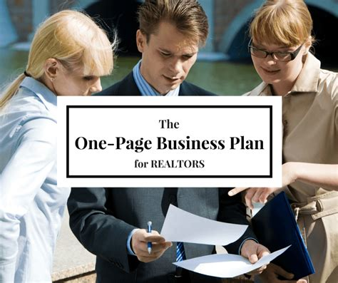 new real estate agent business plan