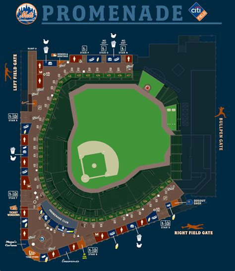 citi field map citi field seating chart