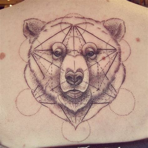 geometric bear tattoo geometric bear tattoo by alex m krofchak at the tattooed