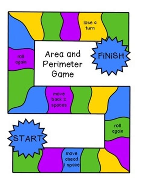 printable area and perimeter games 17 best images about math measurement on pinterest task