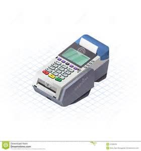 7 Credit Card Authorization isometric electronic data capture stock vector image