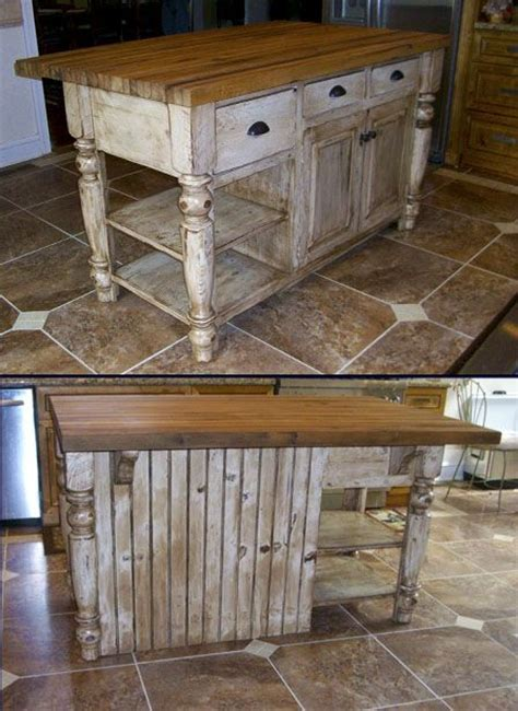 17 best ideas about rustic kitchen island on