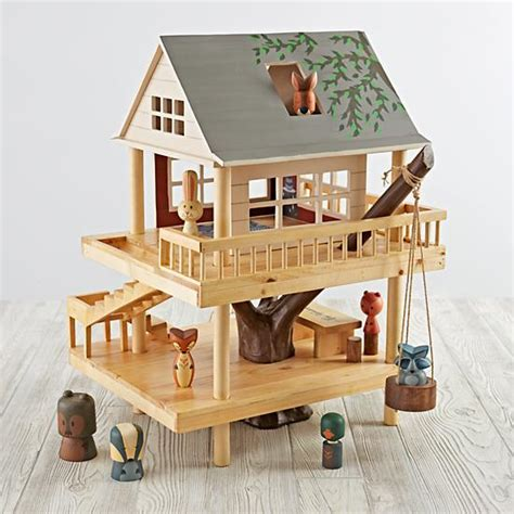 plan toys tree house land of nod holiday toys forest and cing treehouse