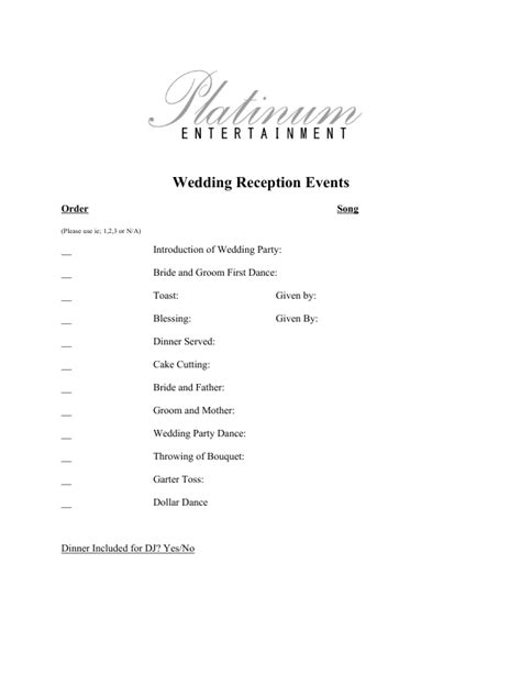 Wedding Order Of Events by Wedding Order Of Reception Wedding Ideas