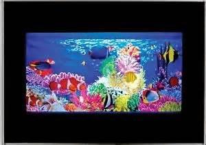 NEW Living Aquarium Animated Swimming Exotic Fish Lamp