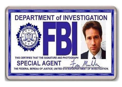 Fbi Id Card Template Free by Fbi Fox Mulder Id Card X Files Fridge Magnet Iman Nevera